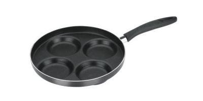PÁNEV, nepřilnavý povrch PTFE, 24 cm - černá