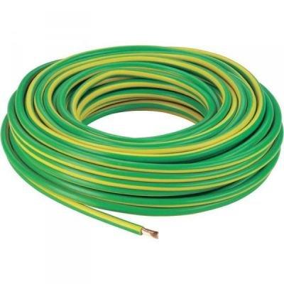 Vodič instalační drát tvrdý (CY) H07V-U 1.5 zelenožlutý