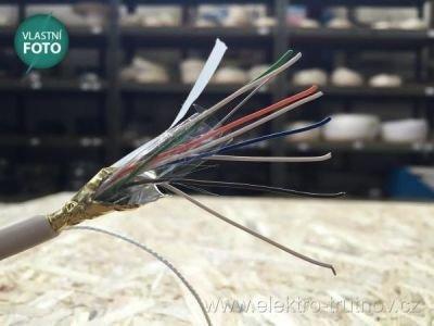 SYKFY 4x2x0.5 sdělovací kabel bílá izolace