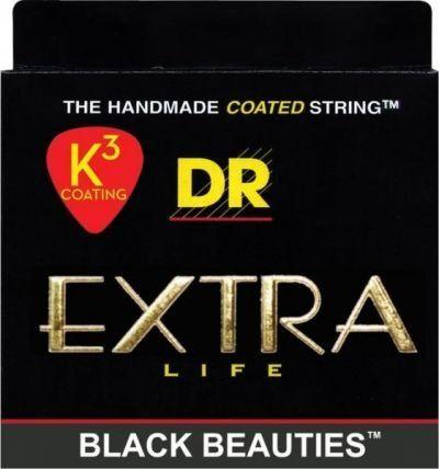 DR Strings EXBK-50 Black Beauties