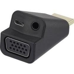 Adaptér HDMI zástrčka ⇒ VGA zásuvka + audio jack 3,5 mm Renkforce