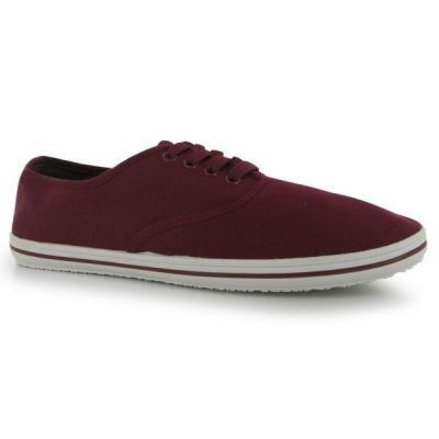Slazenger Canvas Pumps Mens, burgundy