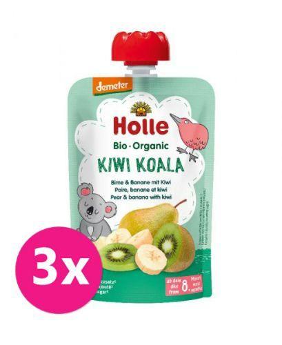 3x HOLLE Kiwi Koala Bio pyré hruška banán kiwi 100 g (8+)