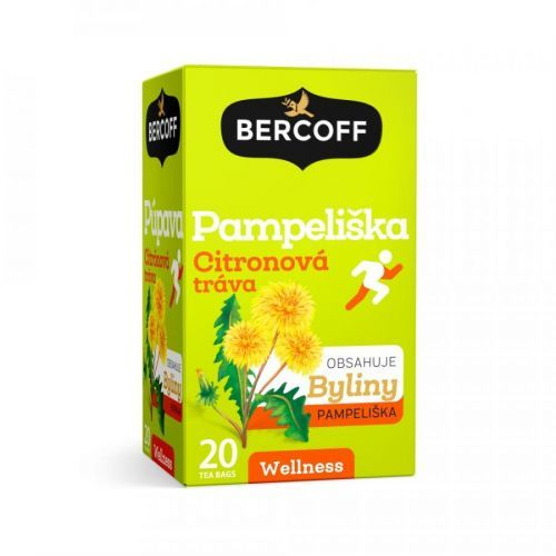Bercoff čaj Pampeliška a citronová tráva 20x1,5g