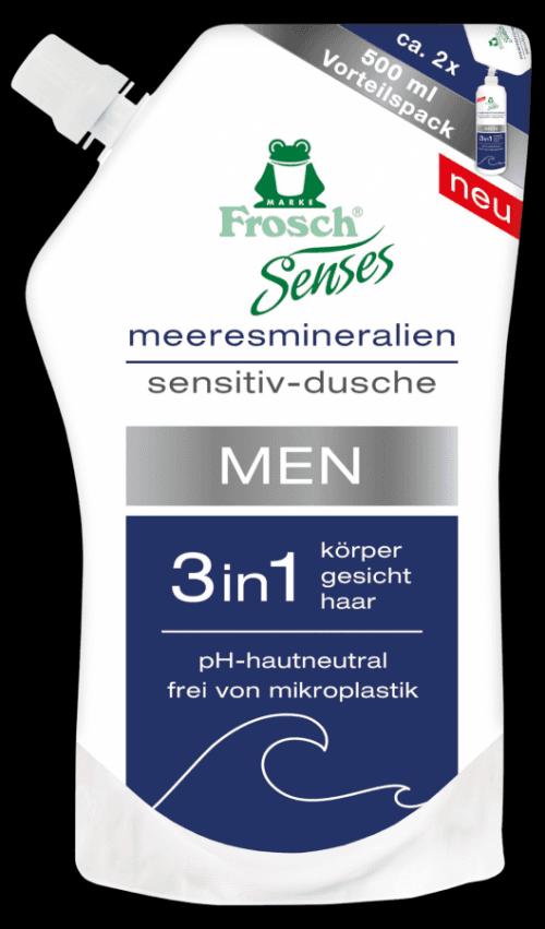 Frosch EKO Senses Sprchový gel pánský 3v1 náhradní náplň 500ml