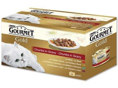 GOURMET GOLD 4x85g jemné kousky ve šťávě