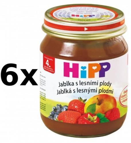 HiPP Jablka s lesními plody - 6 x 125g