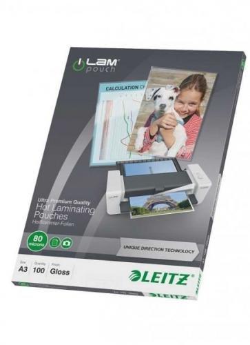 Fólie laminovací Leitz A3 se směrovací technologií, 80 mic / 100 ks