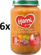 Hami Rajčata s hovězím a vaječným žloutkem - 6 x 200g