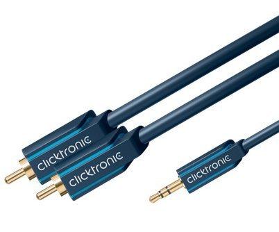 ClickTronic HQ kabel Jack 3,5mm - 2x CINCH, 10 m