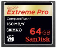 SanDisk Compact Flash 64GB Extreme Pro 160 MB/s