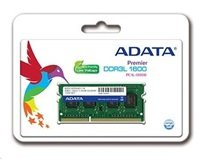 ADATA 8GB 1600MHz DDR3L CL11 SODIMM, 1.35V Single Tray