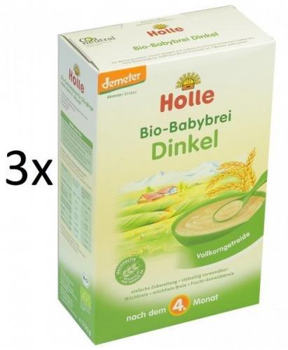 Holle Bio Špaldová bezmléčná kaše - 3 x 250g