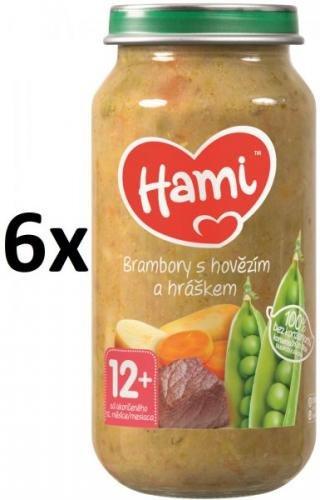 Hami Brambory s hovězím a hráškem - 6 x 250g