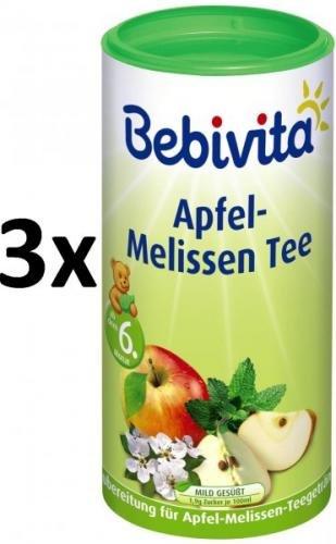 Bebivita Jablečno-meduňkový čaj-instantní, 3 × 200g