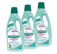 SANYTOL 3 x 1l dezinfekční univerzální čistič na podlahy