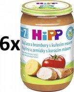 HiPP Rajčata a brambory s kuřecím - 6x220g