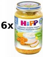 HiPP Zelenina s krůtím masem - 6x220g