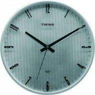 Nástěnné hodiny Twins 7911 silver 31cm