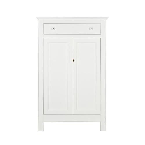 Bílá skříň z borovicového dřeva De Eekhoorn Eva