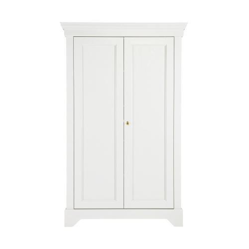 Bílá skříň z borovicového dřeva De Eekhoorn Isabel