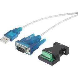 Adaptér USB Renkforce [1x DSUB zástrčka 9pólová, pólová svorka - 1x USB 1.1 zástrčka A] černá lze šroubovat