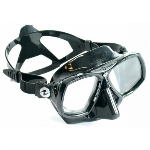 Potápieská maska Look 2 silikon eerný - univerzální, stoíbrná