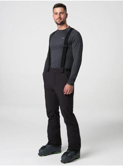 Černé pánské zimní softshellové kalhoty LOAP Lekan