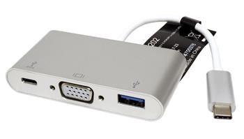 Roline Adaptér USB 3.1 USB C(M) -> VGA(F), USB 3.0 A(F), USB C(F) PD