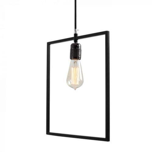 Černé závěsné světlo Custom Form Quado