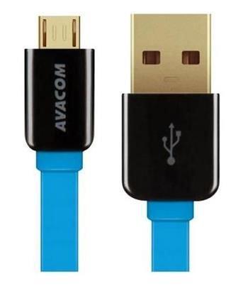 AVACOM MIC-120B kabel USB - Micro USB, 120cm, modrá
