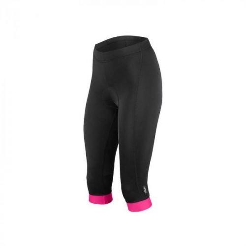 3/4 kalhoty Etape Natty - dámské, elastické, pas, s vložkou, černo-růžová - velikost L