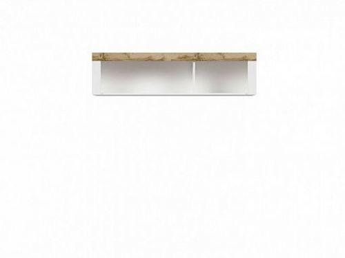BRW HOLTEN  Závěsná skříňka SFW/156, dub wotan/bílý lesk