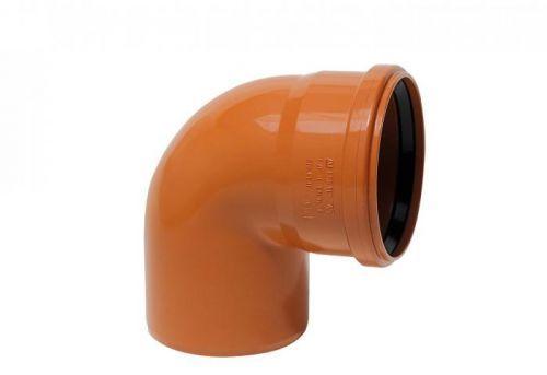 KGB koleno pro kanalizační potrubí DN 100, úhel 87,5°, barva oranžová