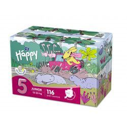 Bella Baby Happy Junior 12–25 kg dětské plenky box 2x58 ks