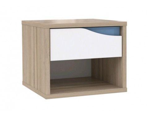 Noční stolek Mega 40, bílá