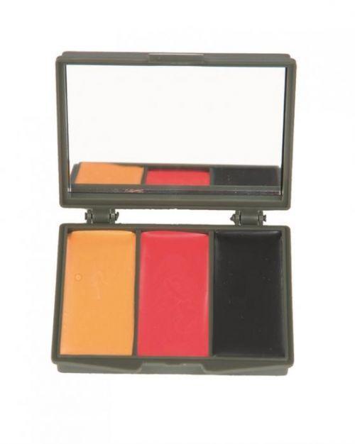 Barvy na obličej Mil-Tec Camo Set (žlutá, červená, černá)