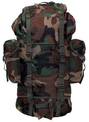 Batoh BW Combat Back 65 L - woodland