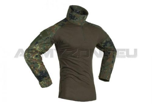 Taktické triko Invader Gear Combat - flecktarn, S