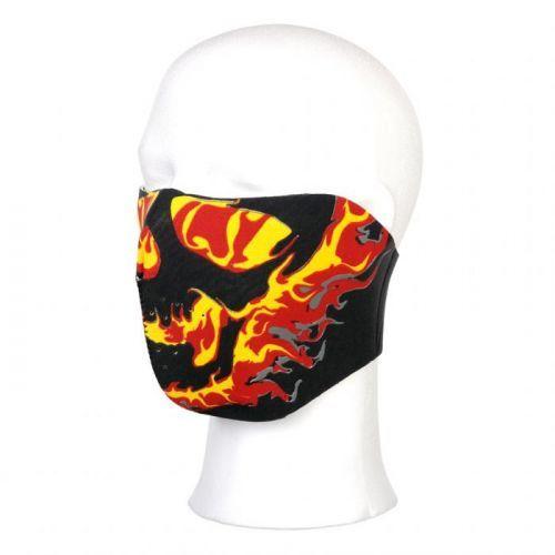 Maska Fostex Half Flames - černá