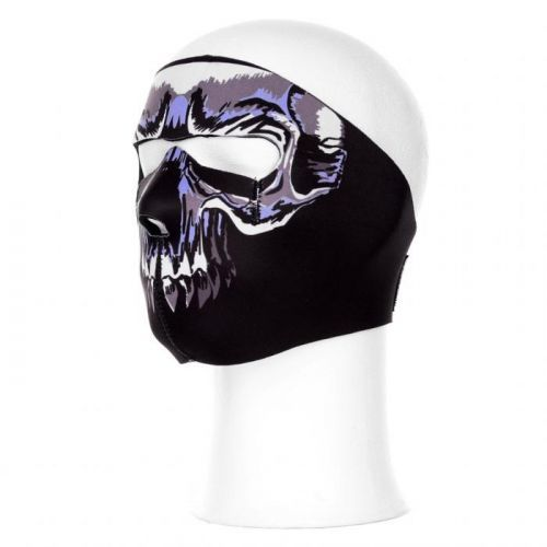 Maska Fostex All Blue Skull - černá