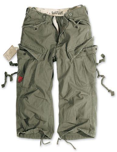 3/4 kalhoty Engineer Vintage - olivové