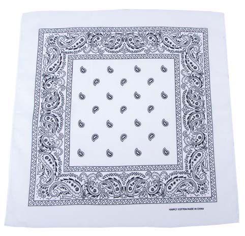 Bandana šátek - bílý