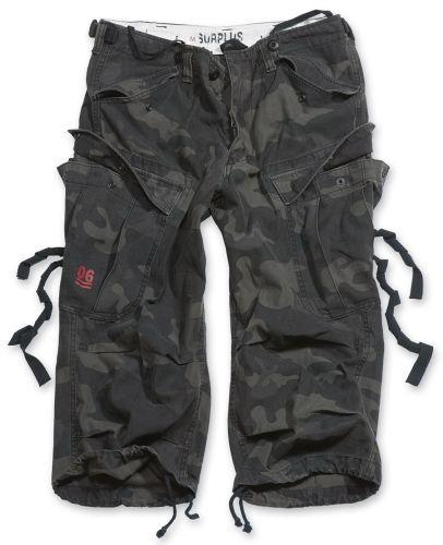 3/4 kalhoty Engineer Vintage - blackcamo