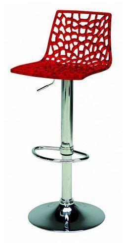 Barová výškově stavitelná židle Stima SPIDER bar – sedák plast, více barev Bianco