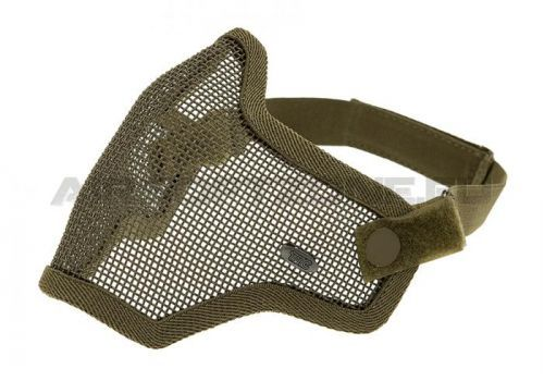 Maska Invader Gear Steel Half Face Mask - olivová
