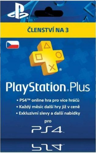 SONY PLAYSTATION PlayStation Plus Card Hang 90 Days - pouze pro CZ PS Store (PS719810742)