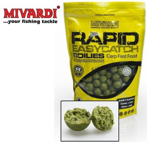 >Boilies Mivardi Rapid Easy Catch 20mm - 950g Příchuť: Anglická jahoda