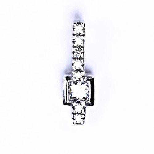 ČIŠTÍN s.r.o Stříbrný přívěšek s čirým zirkonem stříbrné šperky VP82 B.Z. 8710