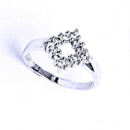 ČIŠTÍN s.r.o Stříbrný prsten se syntetickým zirkonem VR 190 7702